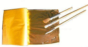 Heft mit Blattgold