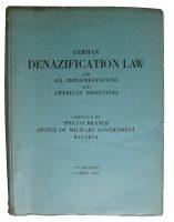 Loseblatt-Buch Denazification MRG