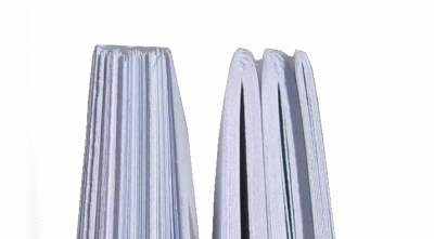 Buch binden - rückenverleimter Block 2