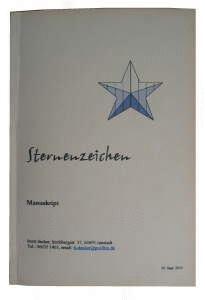 Buch binden - geklammertes Paperback
