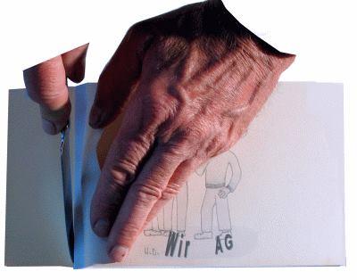 Buch binden - Seiten zuschneiden