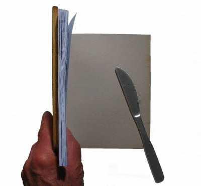 Buch binden - Einband anbringen