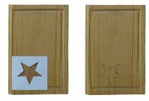 Holzdeckel für Buch