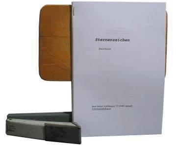 Buch binden - Teilblock heften