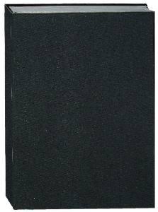 Buch mit schwarzem Leineneinband